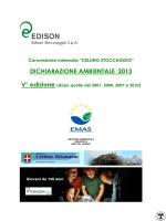 Dichiarazione Ambientale EMAS - Cellino Stoccaggio anno 2013