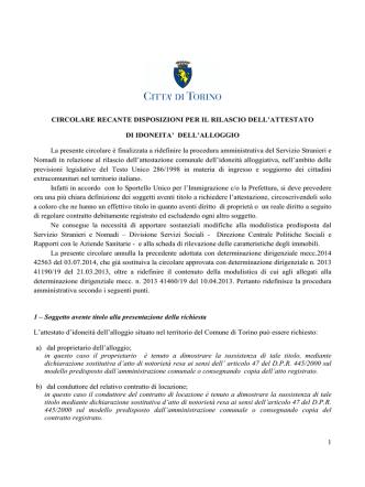 Circolare del 29 agosto 2014 recante disposizioni