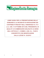 Ordinanza n. 28/2014 - Linee guida - Regione Emilia