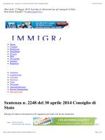 Sent. Cons. Stato 2248/2014