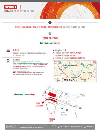 come arrivare a SMAU Milano 2014