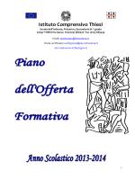 pof 2013 2014 - Istituto Comprensivo Thiesi