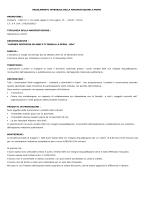 REGOLAMENTO INTEGRALE DELLA MANIFESTAZIONE