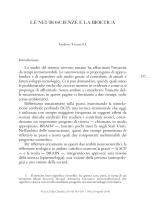 le neuroscienze e la bioetica - Catholic Theological Ethics in the