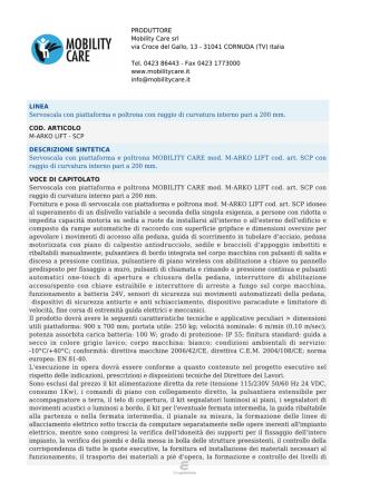 Capitolato - Mobility Care