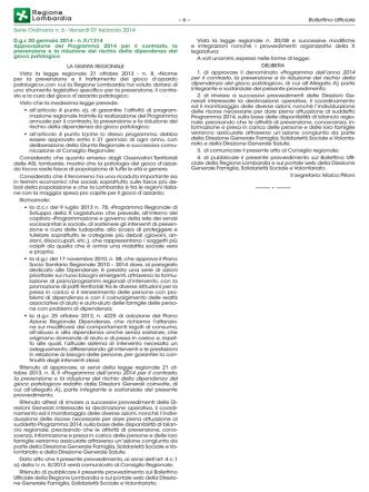 Approvazione del Programma 2014 per il contrasto, la