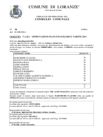 consiglio comunale - Comune di Loranzè