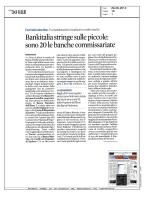 Bankitalia stringe sulle piccole: