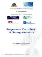 """Programma """"Corso Base"""" di Chirurgia Robotica"""