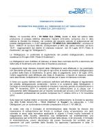 """Emissione di 2.427 obbligazioni """"TE Wind 2014-2020 6%"""" - AIM"""