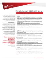 WatchGuard® XTM 800 Serie - WatchGuard Technologies