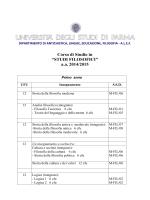 Piano degli studi 2014/15