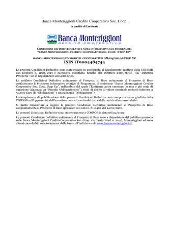 Banca Monteriggioni Credito Cooperativo Soc