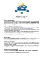 REGOLAMENTO LIONS TEN Seconda edizione 2014