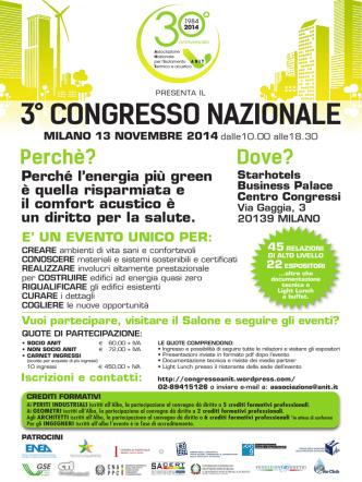 3° congresso nazionale milano 13 novembre 2014