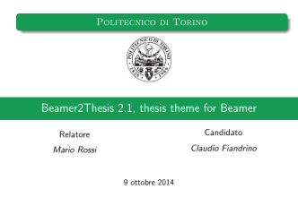 Beamer2Thesis 2.1, thesis theme for Beamer