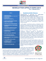 NEWSLETTER APPALTI EXPO 2015