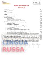 CORSO DI LINGUA RUSSA LIVELLO A1