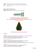 Bollettino Informativo 17 Dicembre 2014 - Centro H