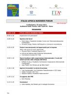 ITALIA-AFRICA BUSINESS FORUM