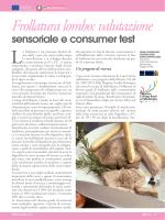 Frollatura lombo: valutazione sensoriale e consumer