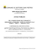 AVVISO PUBBLICO - Comune di Settimo San Pietro