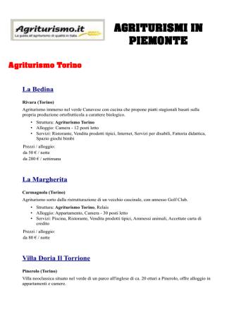 AGRI 3 - FITeL Piemonte