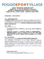 Regolamento XVI POGGIO JUNIOR CUP 2014