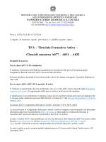 TFA – Tirocinio Formativo Attivo – Classi di concorso A077 – A031