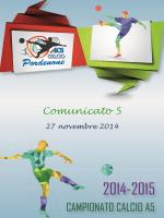Comunicato n.5 del 26.11.2014