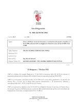 Atto Dirigenziale N. 1856 del 09/05/2014 Il Dirigente / Titolare P.O.