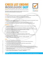 Check list ordine ModelGuide Easy