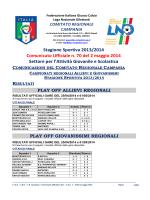 C.U. n. 70 L.N.D.-S.G.S. del 2.05.2014