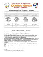 REGOLAMENTO TORNEO ANTEPRIMA