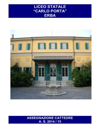 ASSEGNAZIONE CATTEDRE AS 2014_15