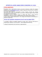 Offerte lavoro 21.11.2014 - Informagiovani Recanati