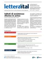 Istituti di assistenza: riforme in arrivo