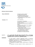 Circolare INPS n° 73 del 05/06/2014