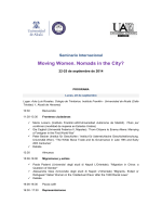 Moving Women. Nomads in the City?