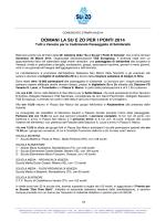 Comunicato Stampa 04/2014 - Su e Zo Per i Ponti Venezia