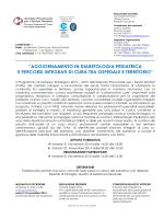 Locandina Diabetologia pediatrica