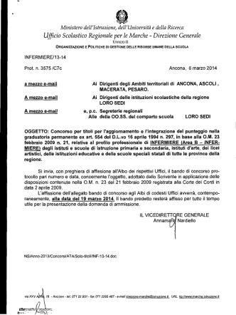 Bando Infermiere - Ufficio Scolastico Regionale per le Marche