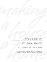CONSIGLI TECNICI TEChNICaL advICES CONSEILS