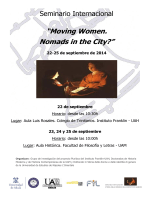 """Moving Women. Nomads in the City?"" 22-25 de"