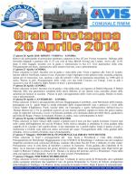 1° giorno 26 Aprile 2014: RIMINI - VERONA – LONDRA Ritrovo dei