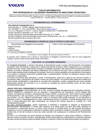 2014_09_30 FOGLIO INFORMATIVO LEASING VCE Macchine