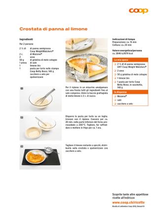 Crostata di panna al limone