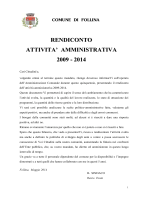 BILANCIO SOCIALE 2009-2014