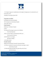 """""""Le Terapie di supporto e di palliazione in Oncologia: la"""