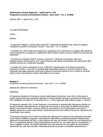Deliberazione Giunta Regionale 1 aprile 2014 n